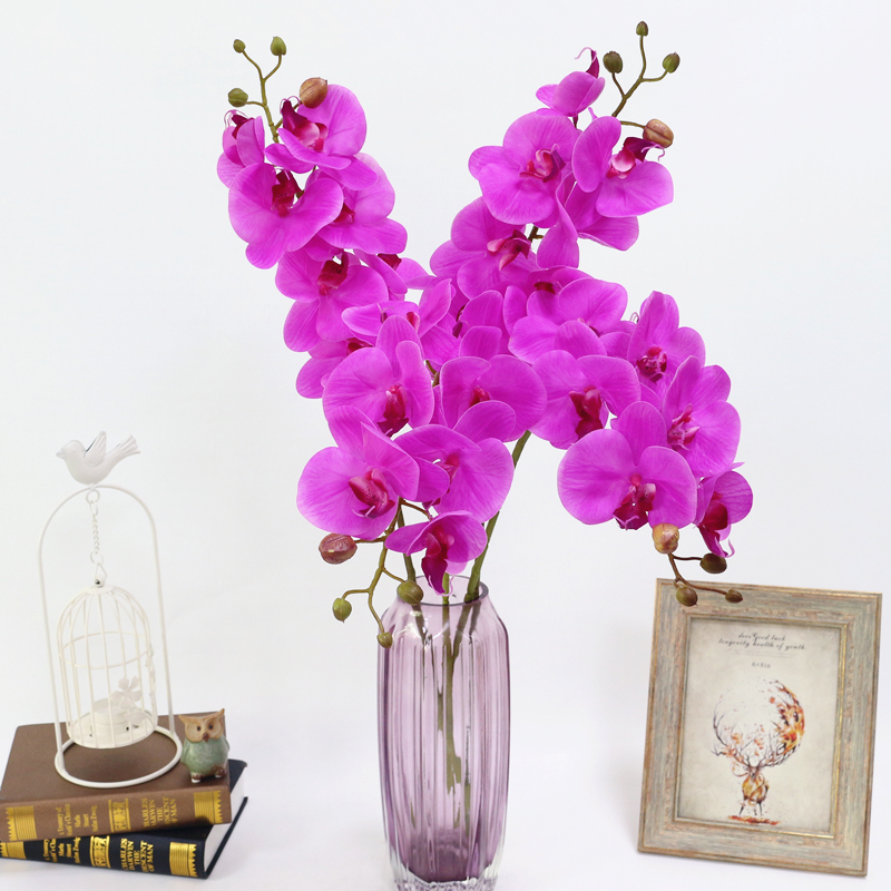 Artificial Orchid Flower 4 color Real Touch Artificial Butterfly Orchid flores artificial Wedding decoration home Festival Decor (12)