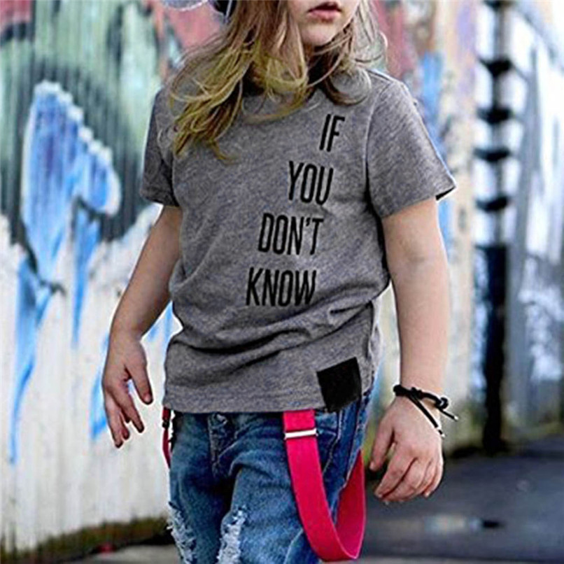 Summer Baby Boy Tops And Tees Toddler Infant Baby Boys Short Sleeve Two-sided Letter Print T-Shirt Tops Baby Boy Clothes M8Y24 (4)