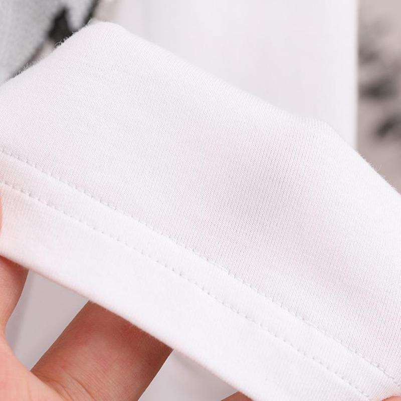 Women Summer Short Sleeve Sequined Bunny Print T Shirts Fashion White Top Tees Women Girls Designer Clothing Cotton
