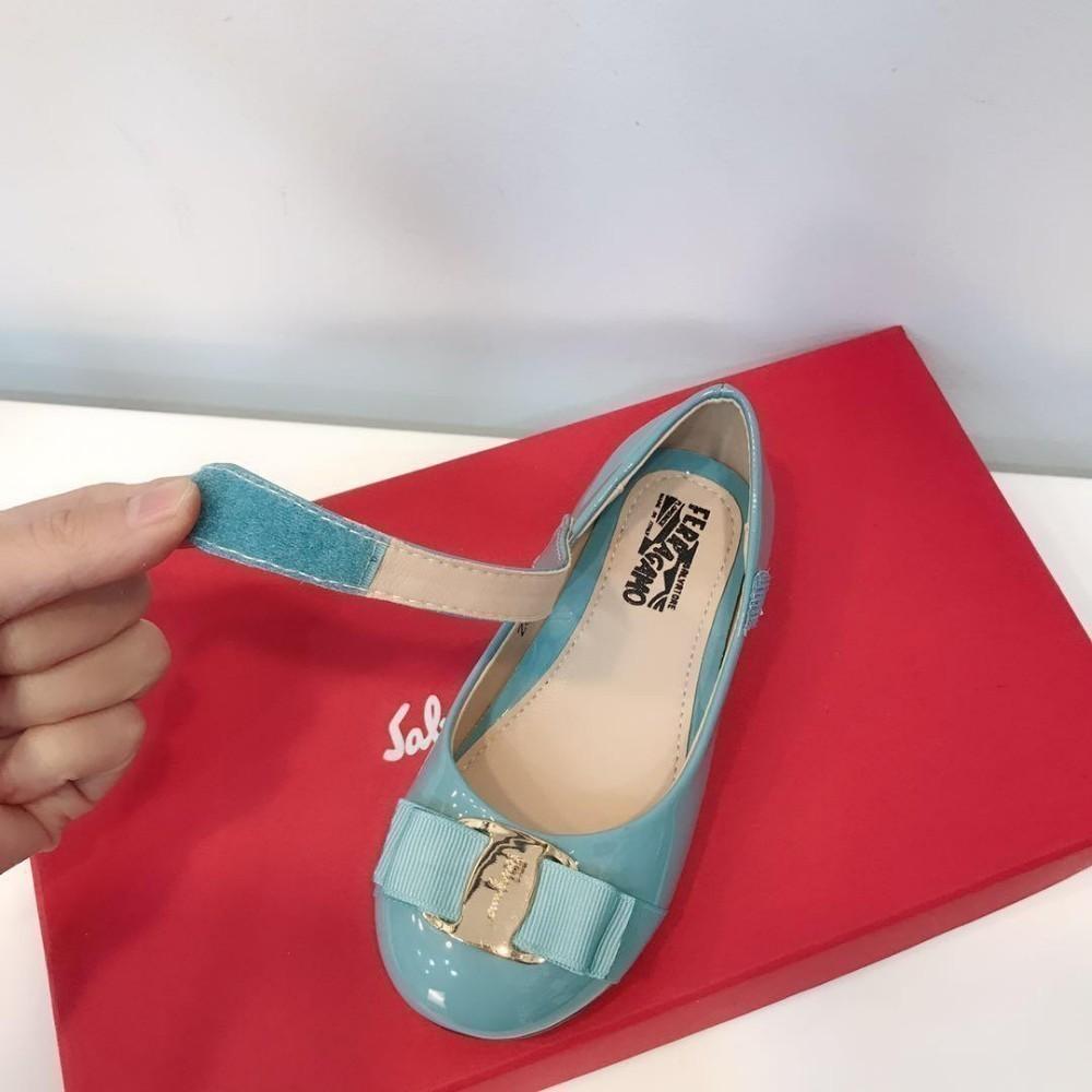 2019 zapatos de princesa de flores Novedades de moda Ropa de niños azul Chicas PRINCESS zapatos de cuero guc-143