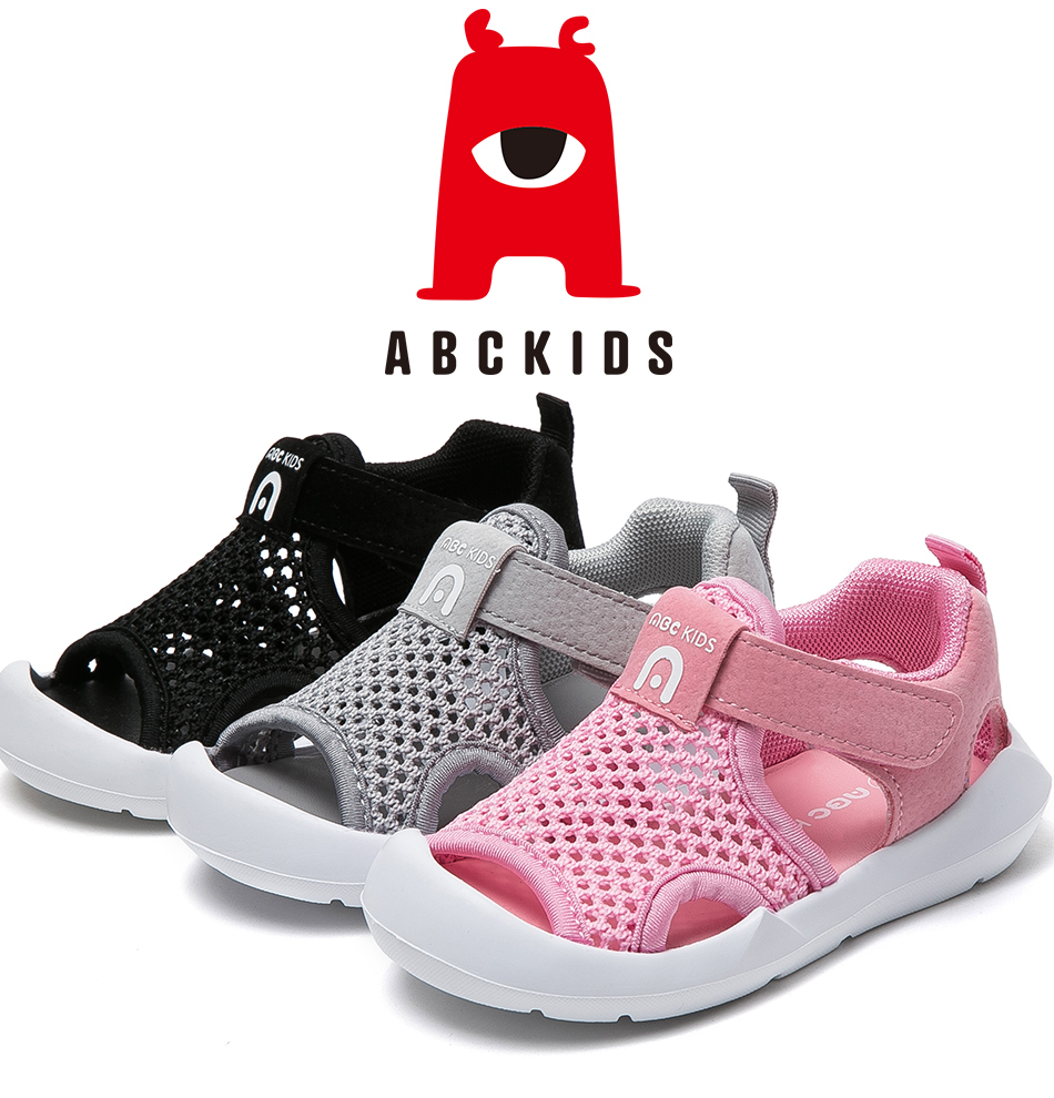 ABC KIDS Baby Girls Anti-Slip Casual Walking Shoes Floral Print Sandals Sneakers