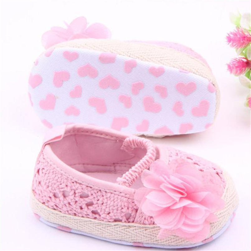 Baby Girls Shoes Toddler Kids Baby Girl Solid Flower Soft Sole Anti-slip Shoes Baby Girls First Walker Shoes M8Y11 #F (3)