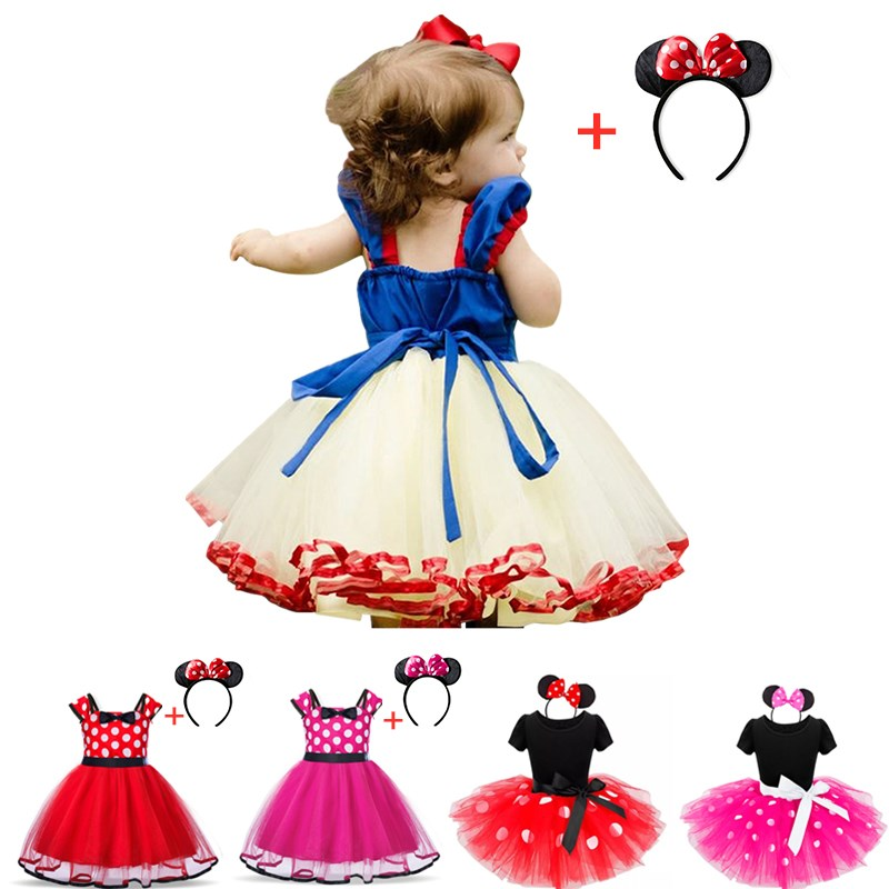 Baby Girls Princess Backless Dress Kids Halloween Cosplay Party Fancy Costume