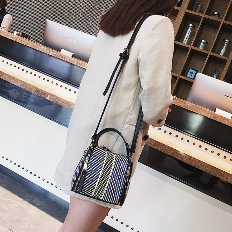 Hot Women Panelled Handbag INS Popular Female Casual Summer Straw Bags Lady Beach Shoulder Bag Fashion Travel Woven Tote SS7221 (9)