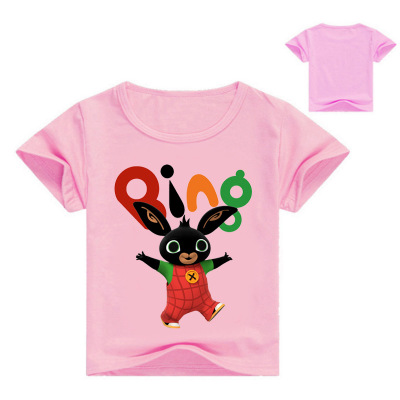 Bing Bunny Kids Boys Girls T-shirt Short Sleeve Tee Shirt Raglan Sleeve Tops