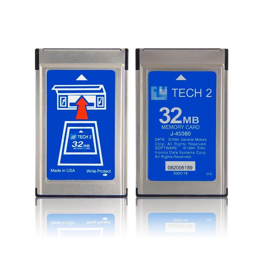 Scheda software di qualità superiore G-M Tech2 Scheda tecnica di memoria 2 Mega Tech 2 con 6 software diagnostica Opel / G-M / Saab / Isuzu / Holden / Suzuki