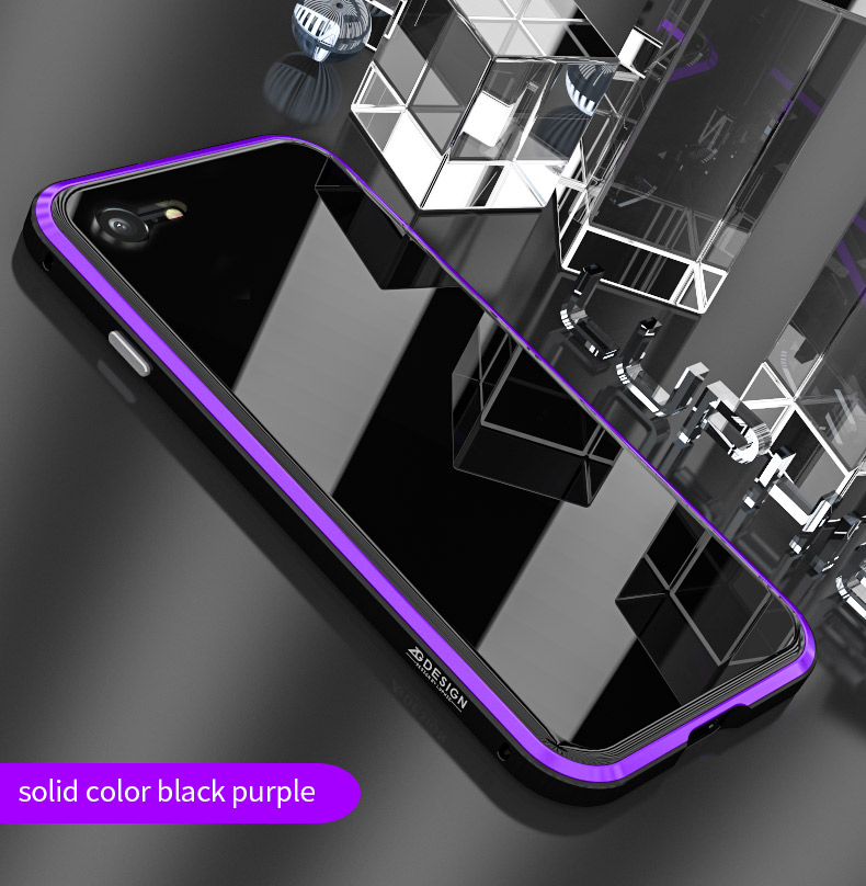 LUPHIE Colorful Laser Aurora Case For iPhone X 8 7 Plus Luxury Glass Case (9)