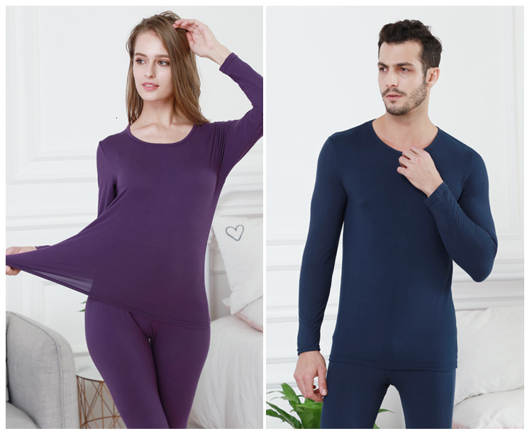 Queenral Long Johns For Male Female Warm Thermal Underwear Thermal Clothing Men Woman Winter Plus Size L - XXXL Thermal Suit 2 (2)
