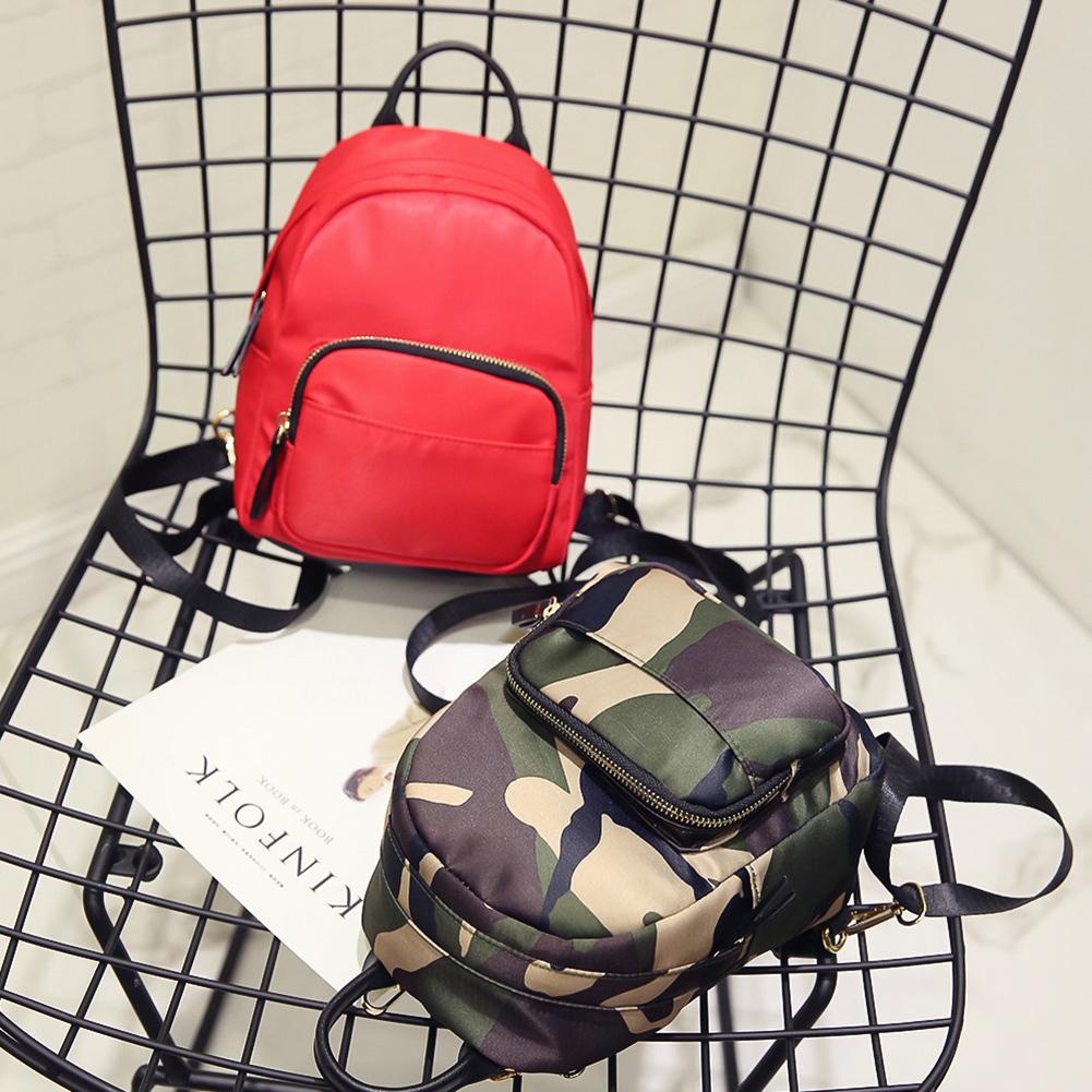 Women Nylon Mini Backpack Girls Fashion Camouflage School Bag Ladies Multifunction Travel Small Rucksack Mochila Feminina Mujer J190425