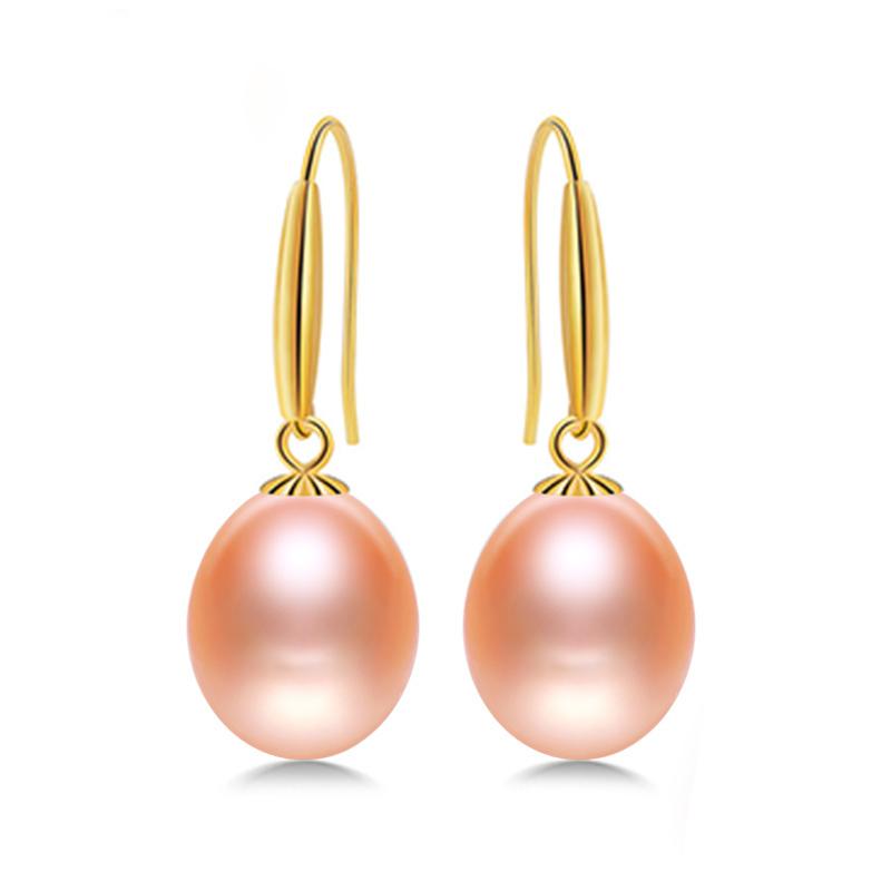166c13882cd0 -logo-800 Daimi 18 k oro gancho pendientes 8-9 mm pendientes de perlas de agua  dulce ...