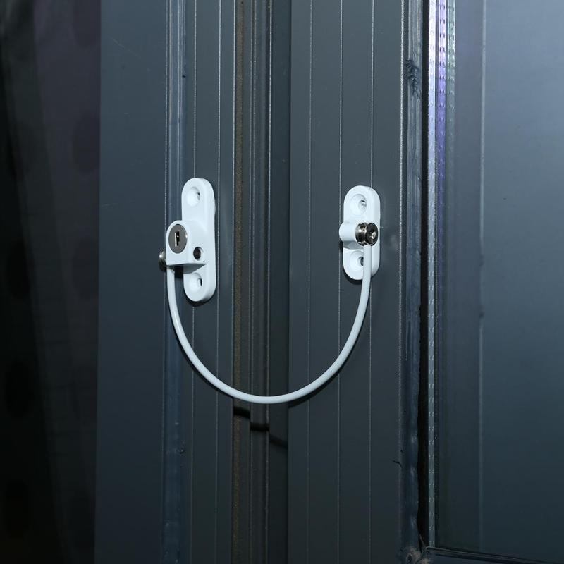 Cable de restricci/ón de abertura de puerta de ventana de aleaci/ón de zinc Restrictor de ventana Cable de retenci/ón de seguridad de beb/é para ni/ño