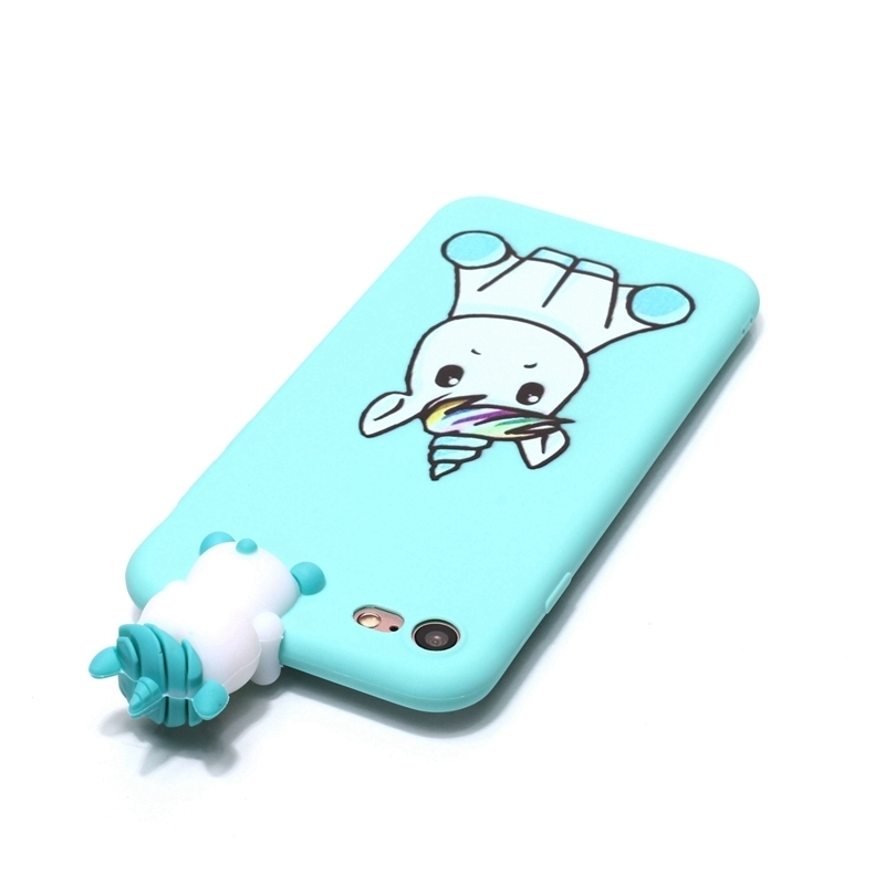 Coque For Iphone 7 7plus Case 3d Unicorn Panda Dog Silicone Case Cover On For Iphone 5 5s Se 6 6s 8 Plus X Xs Phone Case Capinha