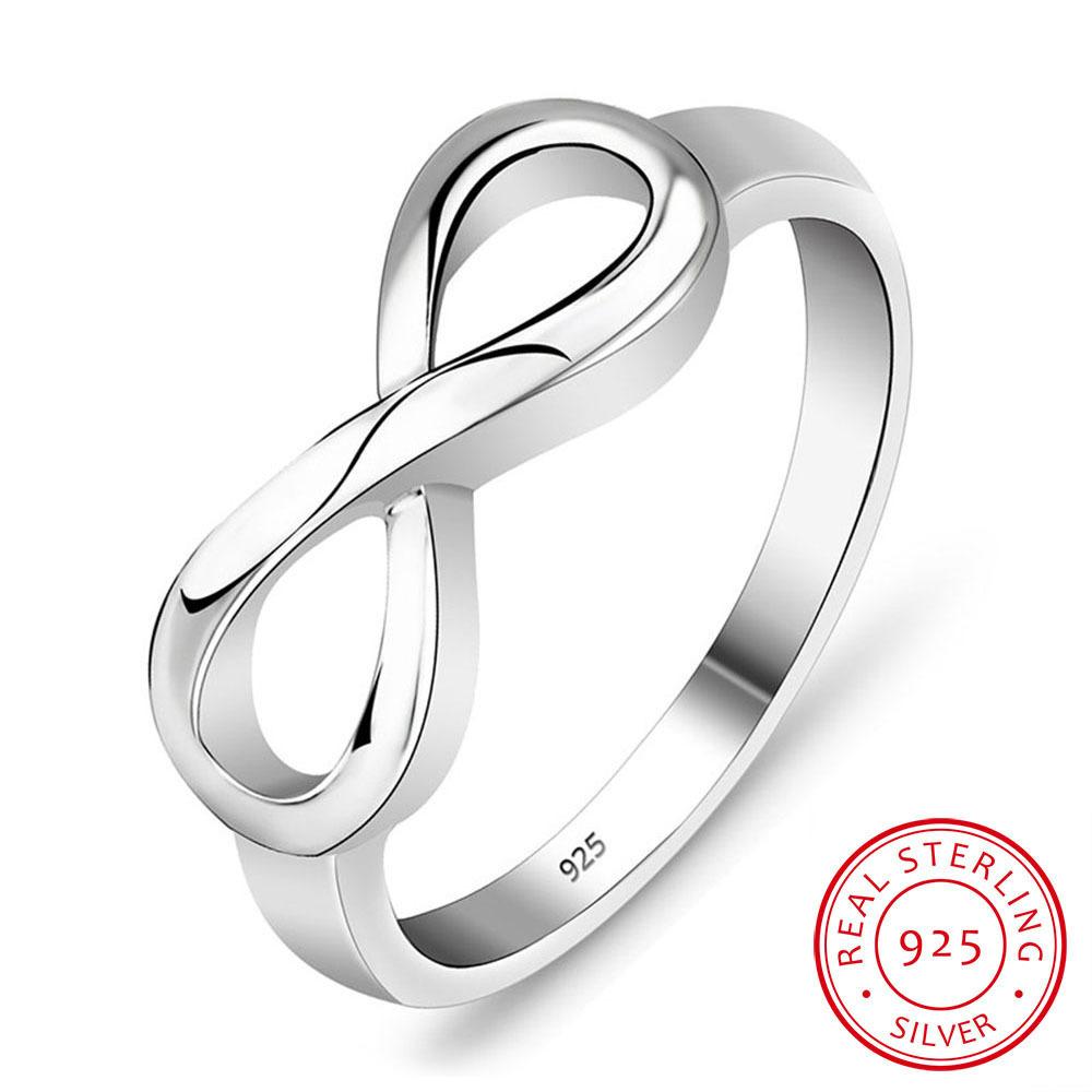 Símbolo de infinito de plata esterlina encanto Forever eterna eterna juntos