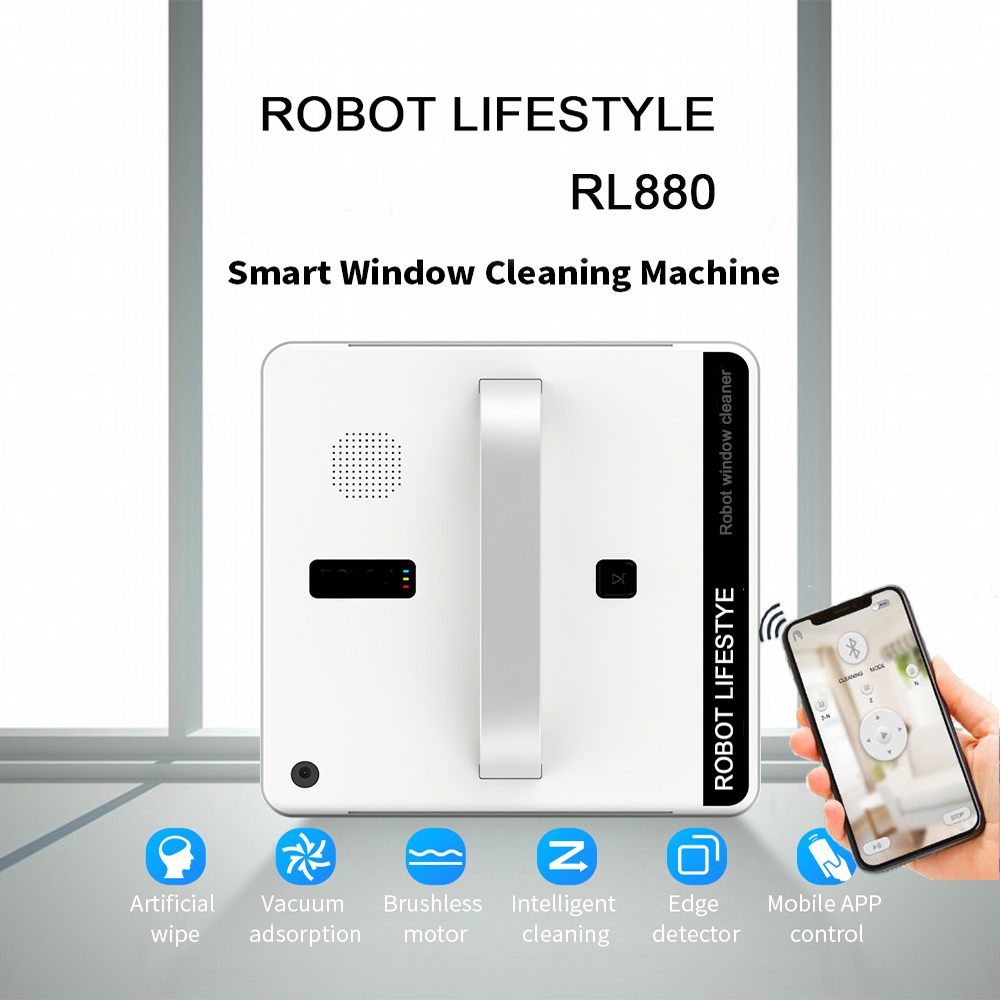 Vacuum Cleaner Robot Remote Control High Suction Anti-Falling Best Robot Vacuum Cleaner Window Glass Cleaning Robot