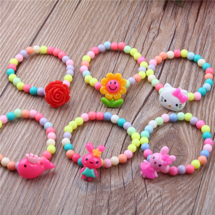 3PCS Cartoon Bracelets Circle Wristbands Kids Birthday Party Gift Toy ne