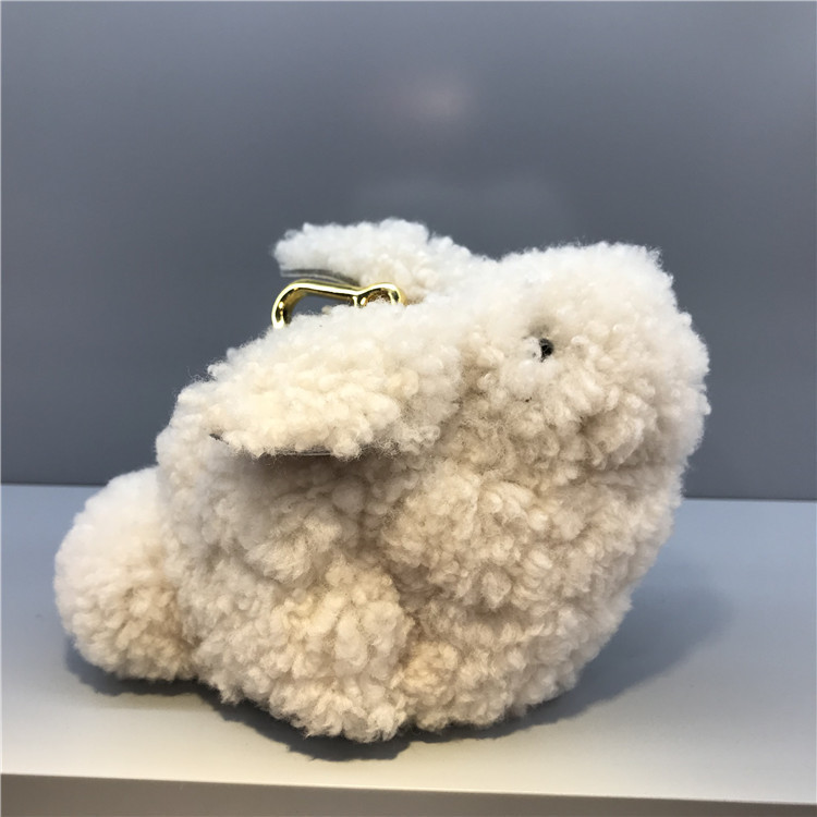 Elegant2019 Baby White Mini Rabbit Lovely Leisure Time Genuine Leather Woman Package Single Shoulder Small Bag