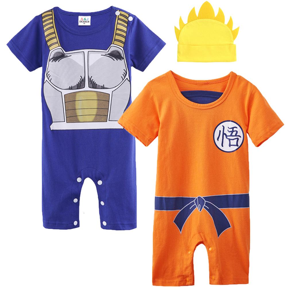 Dragon Ball Z Cosplay Langarm Jungen und M/ädchen Vegeta Strampler Kost/üm Overall Baby Kleidung
