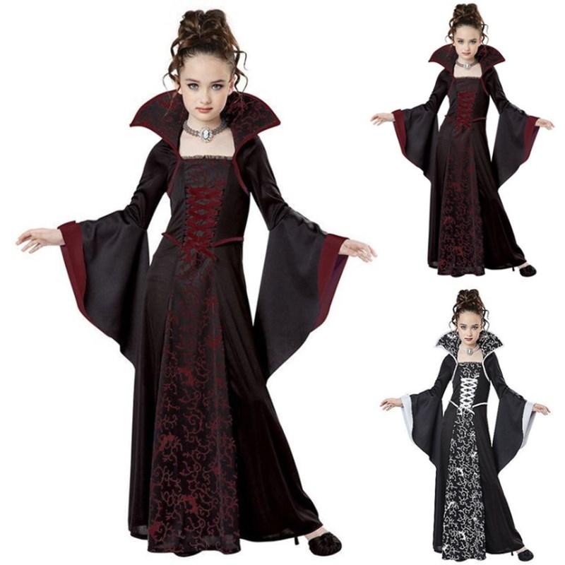 Longue ROBE marron pour enfants Jeu cosplay moyen âge