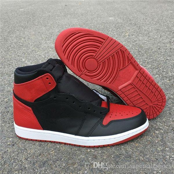 Wholesale New OG Banned black red I 1s men high basketball shoes outdoor trainers Eur 40-45