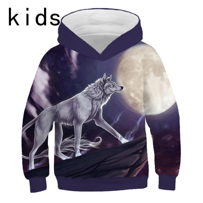 Youth 3D Print Love Flower Cat Hooded Sweatshirt