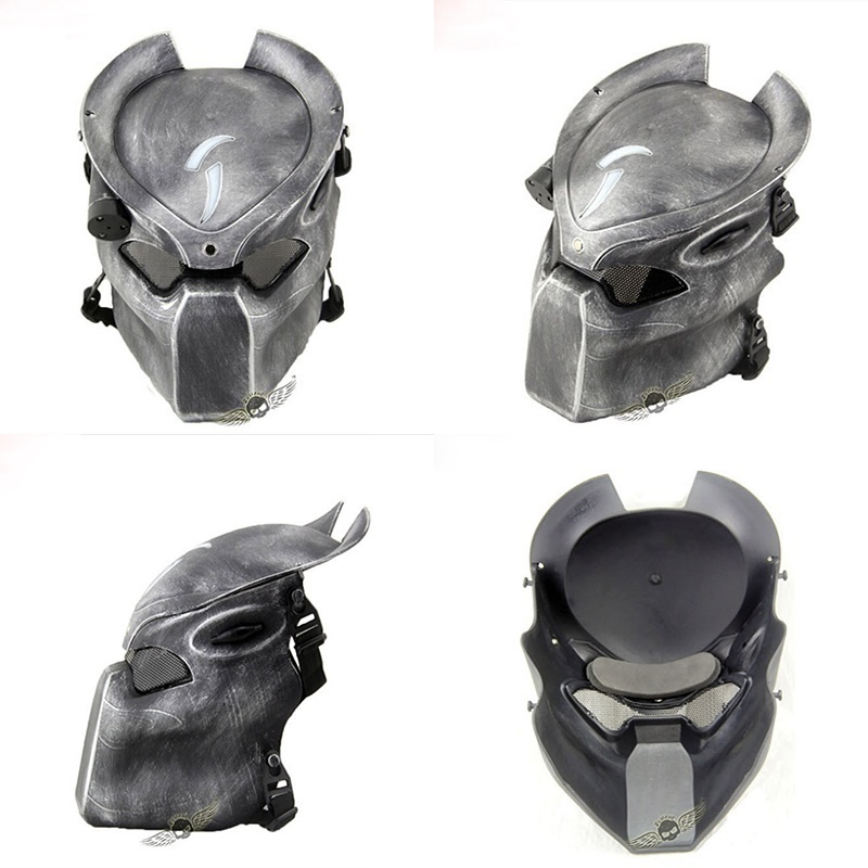 AVP Predator Mask Alien Lonely Wolf Masks Halloween Cosplay Prop Fiberglass Mask