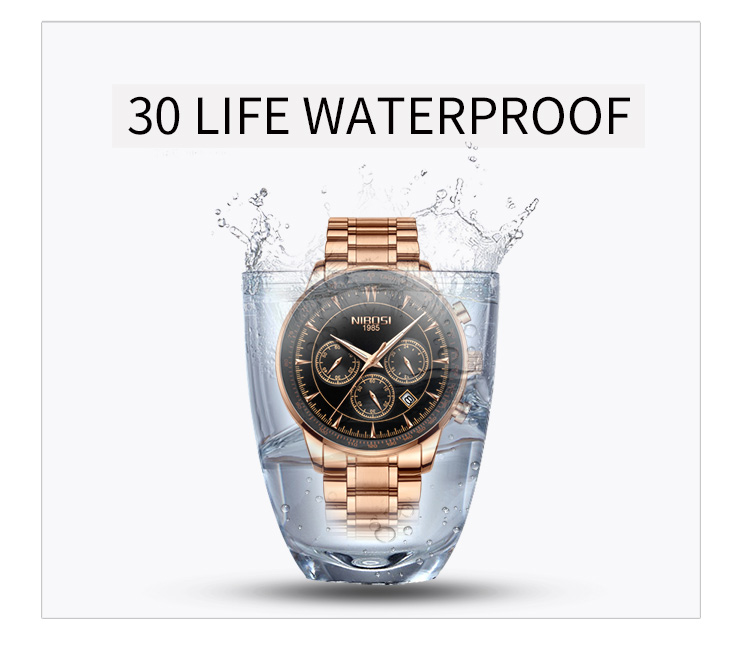 Relogio Masculino NIBOSI Quartz Watches Men Steel Band Men Watches 2019 Luxury Brand Waterproof Wrist Watches For Men Brand Saat (7)