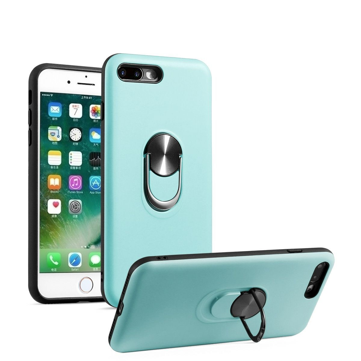 A10 Case Military Protection with Built-in 360 Rotation Kickstand Support Car Magnetic Holder for Samsung Galaxy A10 Jade