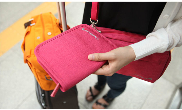 Travel Passport Folder Multi-function Document Bag Passport Bag Protective Cover Id Bag Waterproof Ticket Holder Card Pouch