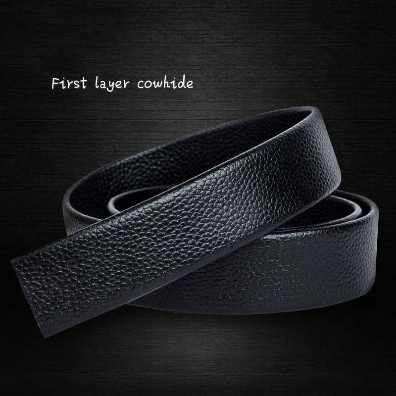 Mens Eagle Pattern Second Floor Cowhide Leather Belt Automatic Buckle Business Strap Gold//Silver Buckle
