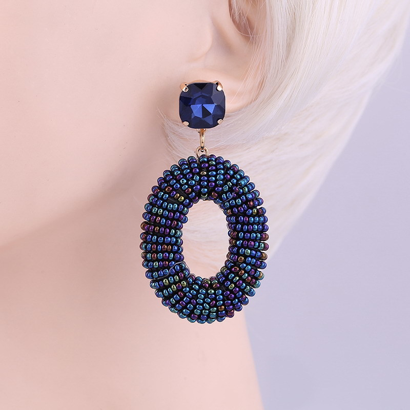 Earrings Colorful Blue