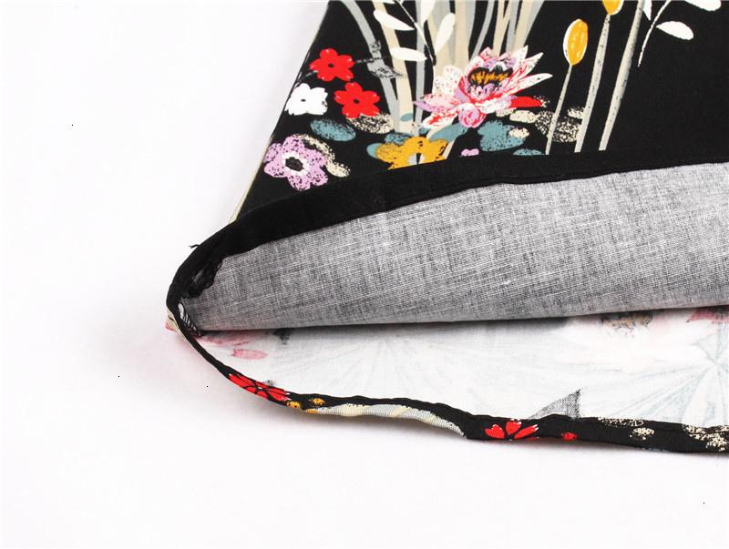 Kostlish Retro Print Flower Summer Skirts Womens High Waist Vintage Skirt Elegant A-Line Midi Women Skirt Plus Size XXL 22 (21)