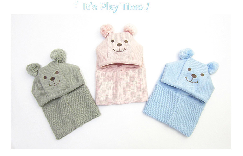 f00afc01 Winter Children Hat Knitted Baby Girls And Boys Pompom Hat With Warm Fleece  Lining Cute Bear Ears Hats For Kids Beanie Ht006