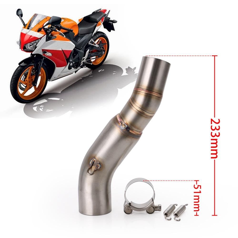 Moto Slip on Syst/ème D/échappement Avec Silencieux Fit Pour HONDA NC700 NC750 NC750X 2012-2017 C