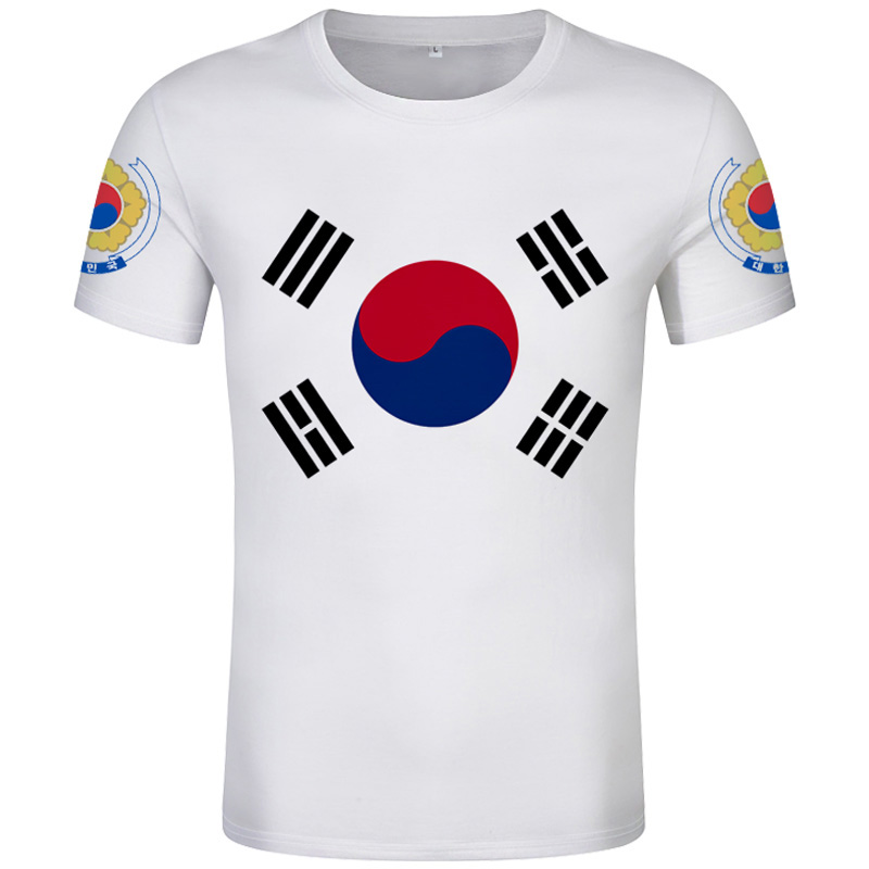 Korean Flag South Korea Seoul Fashion Vintage T Shirt Men Women Unisex 1428