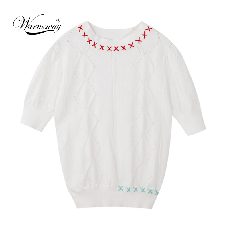 New Hollow out Tee shirt femme Harajuku Lace Up Short sleeve Sweet Ladies T Shirt Women Knitted Tops B-057
