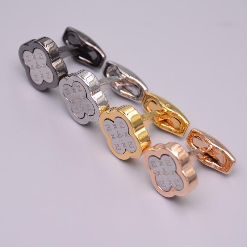 Rose fleur boutons de manchette en laiton en métal mode hommes boutons de