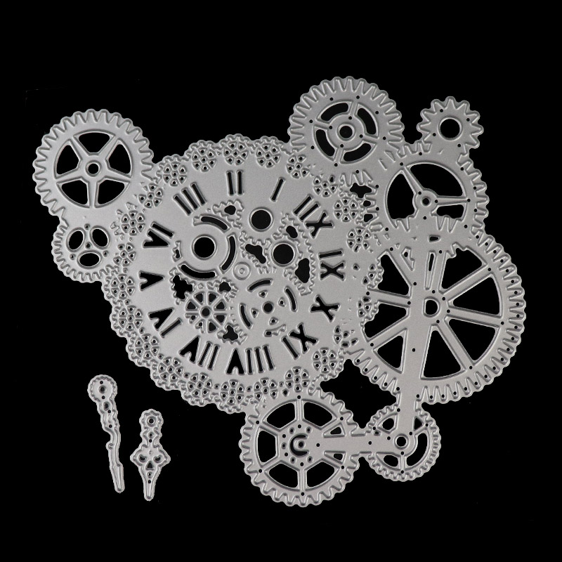 Gear cutting dies Frame Background Craft Die Metal Cutting Dies Paper Dies Cut for DIY Paper Card making Scrapbooking Decoration