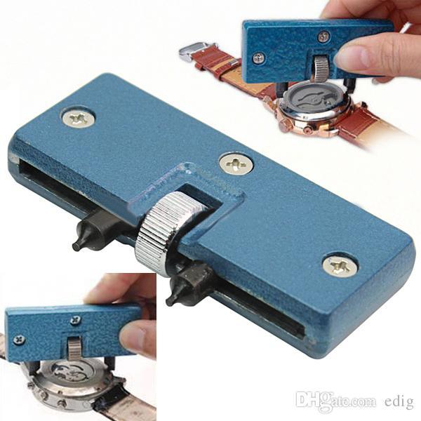 Adjustable Useful Blue Watch Battery Change Back Case Opener Remover Screw Wrench Repairing Tool Kit