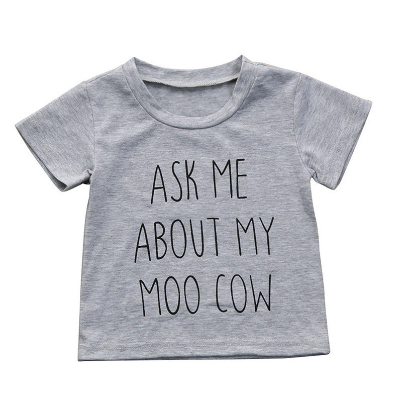 Summer Baby Boys Tops And Tees Toddler Kids Baby Boys Short Sleeve Letter Printing Tops T-Shirt Baby Boy Clothes M8Y18 (7)