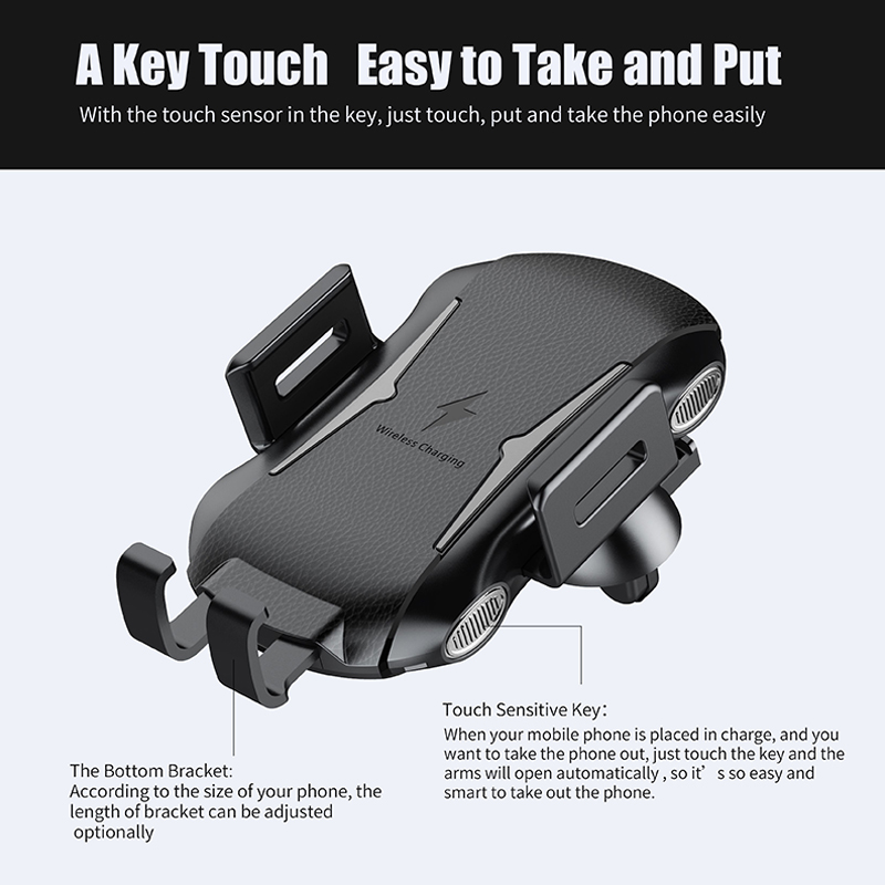Automatic Car Mount Qi Wireless Charger for Samsung Galaxy S10 S8 S9 Plus Case Mobile Accessories Fast Charging Car Phone Holder