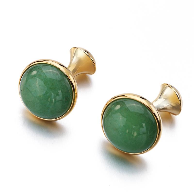Green Stone Cufflinks (4)