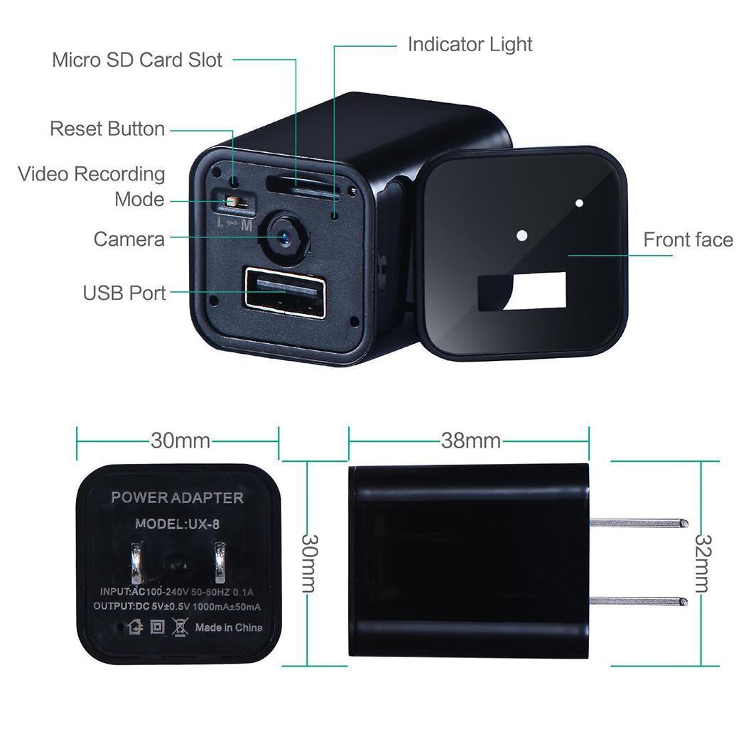 New US/EU Plug Mini Hidden Spy Camera Charger Motion Detection Home Security Fashion New Mini Spy Camera Charger
