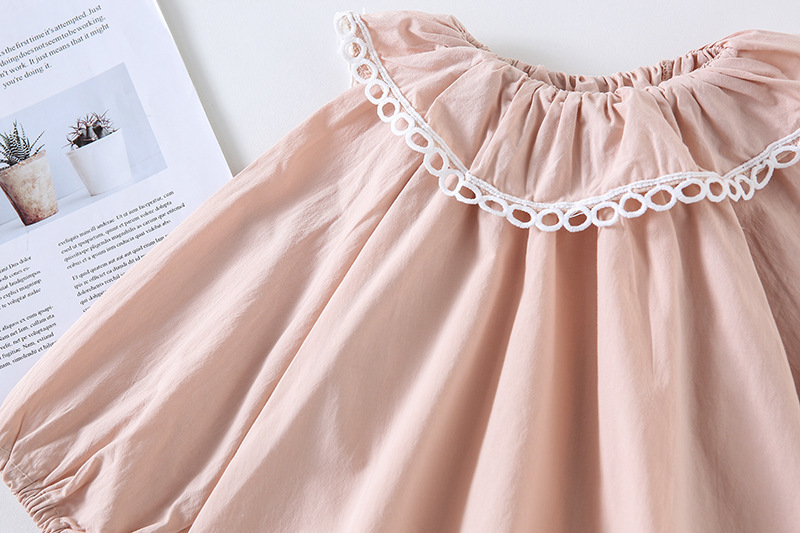 2019 Brand New Autumn Toddler Baby Girls Kids Solid Color Long Sleeves Tops Casual Cotton Clothes Lace Ruffles Cute Blouses