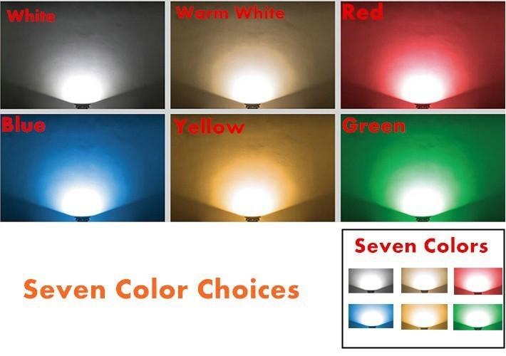 Fanlive 10 adet Mini Led Inground Aydınlatma Sıcak Beyaz / Soğuk Beyaz IP65 Bahçe Açık Işık Gömme 1 W LED Yeraltı Lambası