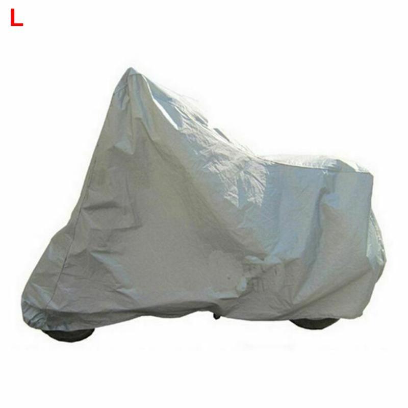 taille: L couleur: noir et rouge Housse de moto de protection ext/érieure int/érieure 190T 210D Protection solaire /étanche /à la pluie Housse de pluie pour moto et