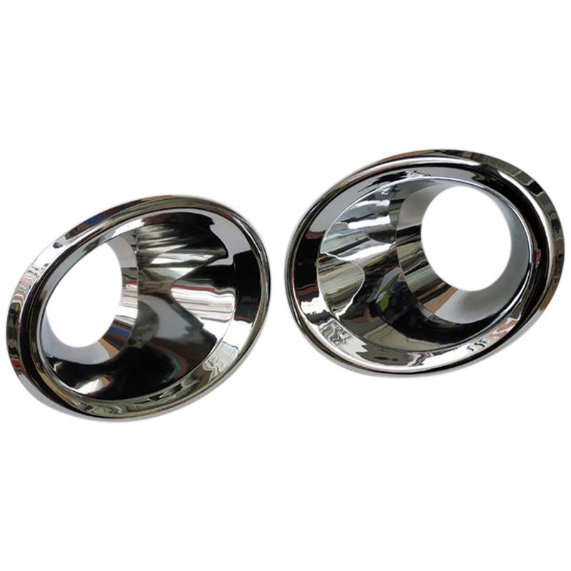 Accessories Chrome Pair Front Fog Light Covers For Toyota RAV4 2013 2014 2015