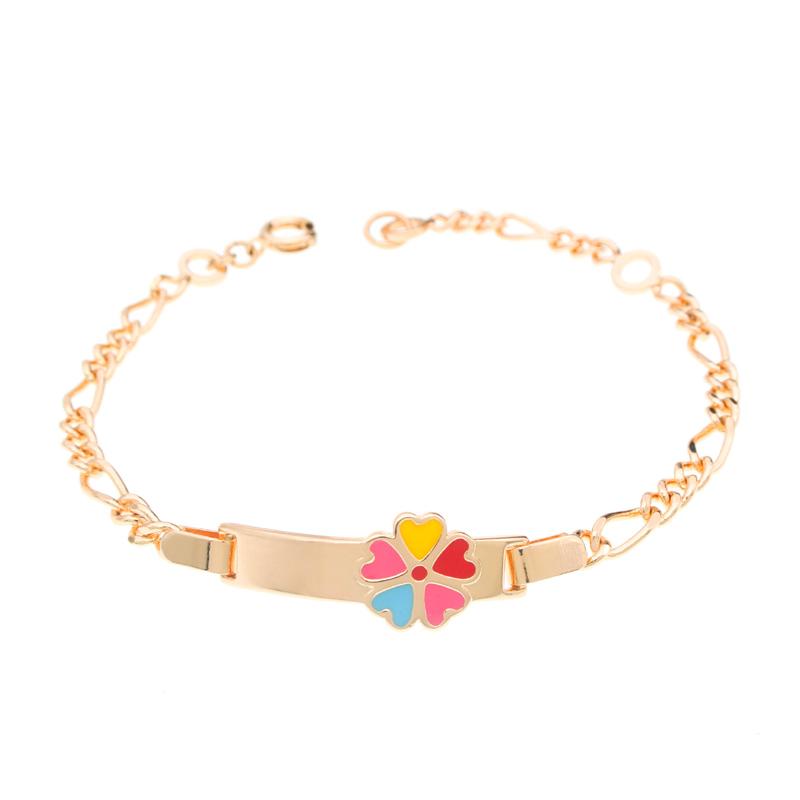 Jeunes filles bébé collier et bracelet fleur bijoux fête enfants IY