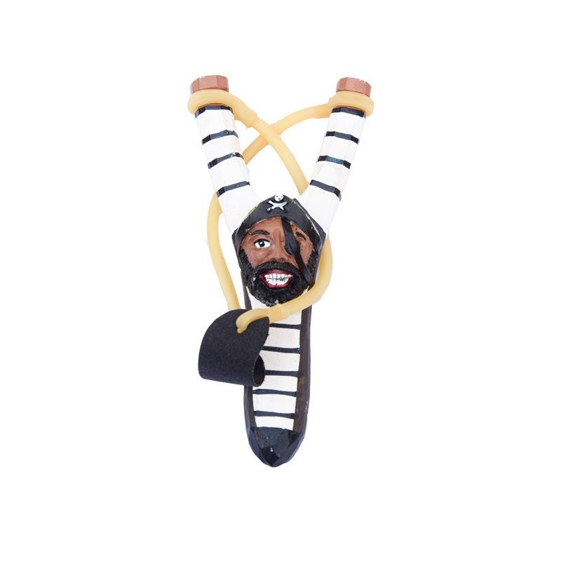 Смешанные стили Креативной резьбы по дереву животных Slingshot мультфильма животные ручной росписи Деревянных Slingshot Crafts Дети подарки