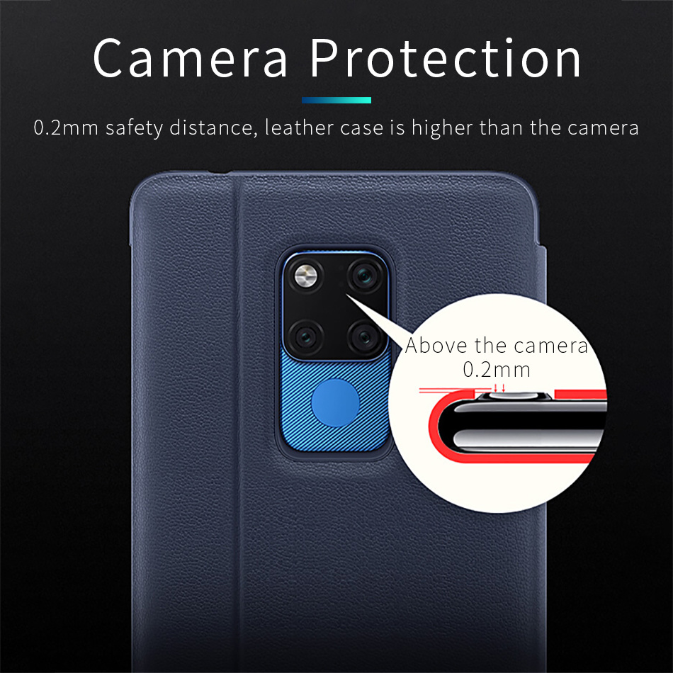 11Huawei Mate 20 X Pro Flip Case Cover Original Huawei Mate 20 case Smart Touch clear View Window PU Leather Luxury Protective