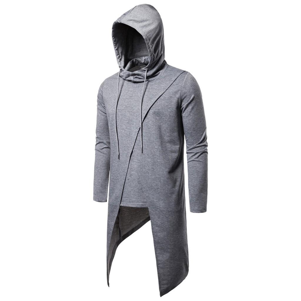 Women Hoodies Oversize Irregular Hoodies Sweatshirt Pullover Outwear Coat